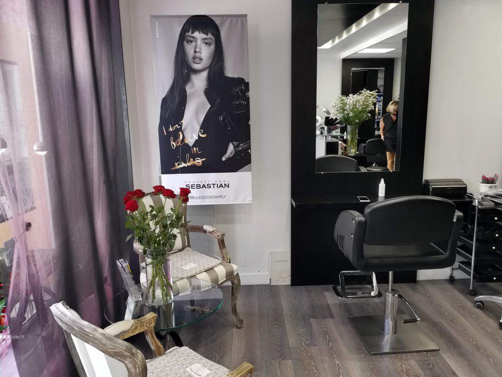 Intérieur du salon Cristal Coiffure, coiffeur, La Tranche sur Mer